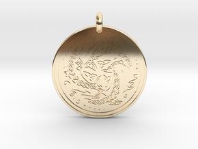 Nehalennia Dolphin Celtic - Round Pendant in 14K Yellow Gold