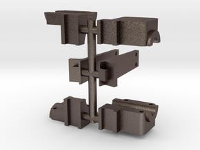 119 rocker arm mount & boiler brace in Polished Bronzed-Silver Steel