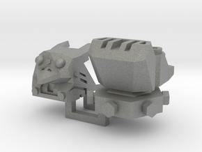PotPie Fist Heads: Robo Penguin and Robo Dog in Gray Professional Plastic