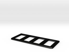 Jeep Cherokee XJ Overhead Console Switch Panel (4) in Matte Black Steel