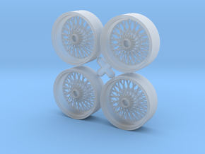 Set of 4 Borrani wire wheels  in Smoothest Fine Detail Plastic