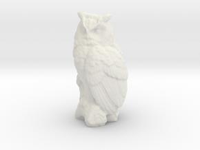 G Scale Owl in White Natural Versatile Plastic