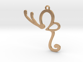 pendent in Natural Bronze