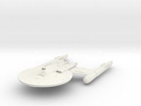 "Discovery time line USS NewYork 5.1"" in White Natural Versatile Plastic"