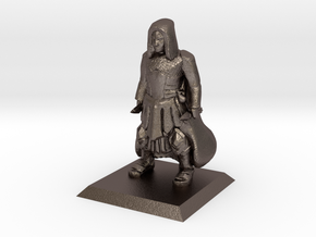 Human Cleric in Polished Bronzed-Silver Steel