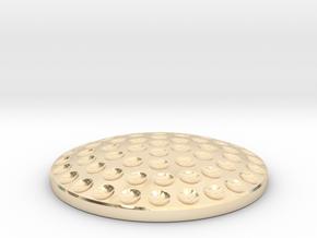 Golf Ball Ball Marker in 14k Gold Plated Brass