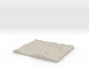 Model of Douglasvale in Natural Sandstone