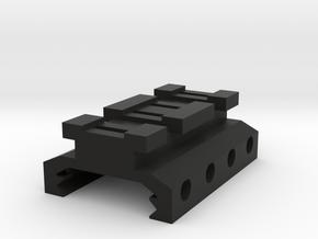 Picatinny to Nerf Adapter (2 Slots) in Black Premium Versatile Plastic