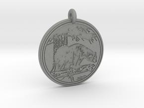 Black Bear Animal Totem Pendant in Gray PA12