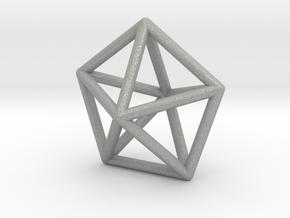 0307 J13 Pentagonal Bipyramid E (a=1cm) #1 in Aluminum