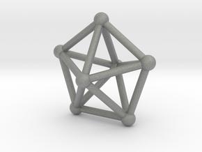 0308 J13 Pentagonal Bipyramid V&E (a=1cm) #2 in Gray Professional Plastic