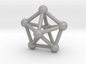 0309 J13 Pentagonal Bipyramid V&E (a=1cm) #3 in Aluminum