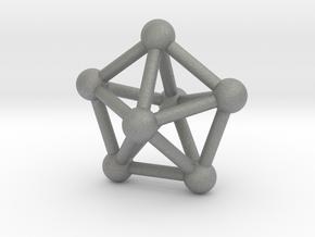 0309 J13 Pentagonal Bipyramid V&E (a=1cm) #3 in Gray PA12