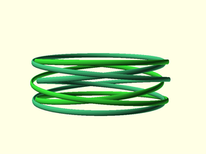 Dubble Multispire floating bracelets in Green Processed Versatile Plastic: Small
