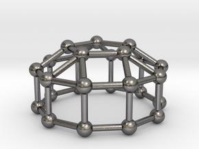 0775 J20 Elongated Pentagonal Cupola (a=1cm) #3 in Polished Nickel Steel