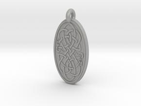 Serpent - Oval Pendant in Aluminum