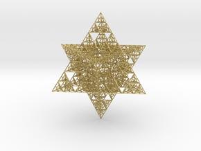 Sierpinski Merkaba V (downloadable) in Natural Brass