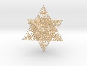 Sierpinski Merkaba V (downloadable) in 14k Gold Plated Brass