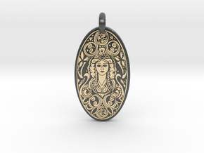 Brigantia - Oval Pendant in Glossy Full Color Sandstone