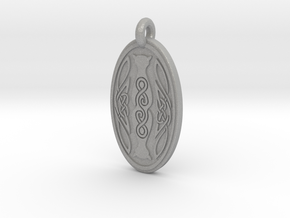 Cat - Oval Pendant in Aluminum