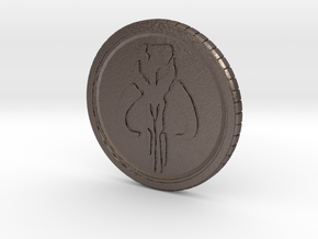 Star wars Sabacc Solo Mandalorian Bounty coin cred in Polished Bronzed-Silver Steel