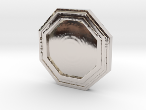 Star wars Sabacc Solo Octagon Plain coin chip in Platinum