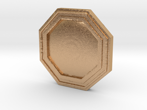 Star wars Sabacc Solo Octagon Plain coin chip in Natural Bronze