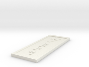 Star Wars Sabacc Solo Standard 7 Credit chip in White Natural Versatile Plastic