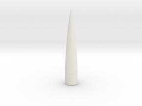 Nose Cone - 0.98 in - 5 to 1 von Karman in White Natural Versatile Plastic