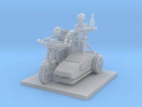 post apocalypse classic bike and sidecar with moto in Smooth Fine Detail Plastic
