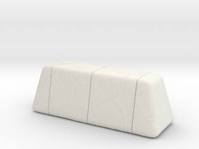 Cracked Concrete Barrier (15mm tall) in White Natural Versatile Plastic