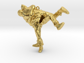 Swiss wrestling - 55mm high in Polished Brass