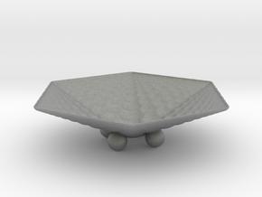 Hexafractalbowl in Gray Professional Plastic