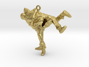 Swiss wrestling - 35mm high in Natural Brass
