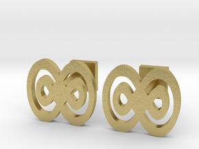 Infinity cufflinks in Natural Brass