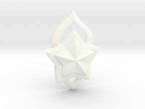 Lux Star Guardian Pin in White Processed Versatile Plastic