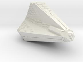 3788 Scale Tholian Heavy War Destroyer (HDW) SRZ in White Natural Versatile Plastic