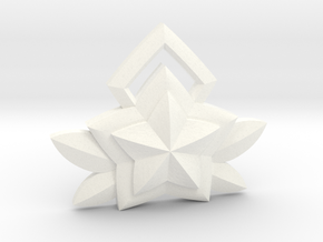 Janna Star Guardian Pin in White Processed Versatile Plastic