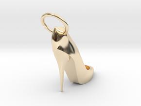 Right Foot Heel Earring in 14K Yellow Gold
