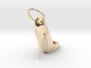 Left Foot Heel Earring in 14k Gold Plated Brass