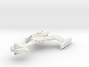 Klingon D-6 in White Natural Versatile Plastic