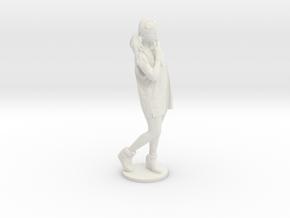 Scanned pretty Girl - 6CM High in White Premium Versatile Plastic