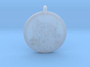 Cougar Animal Totem  Pendant in Smooth Fine Detail Plastic