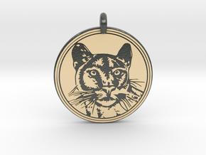 Cougar Animal Totem Pendant in Glossy Full Color Sandstone