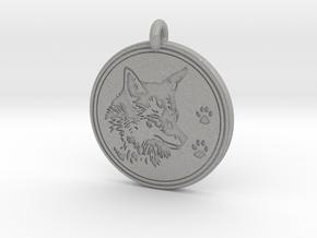 Coyote Animal Totem Pendant in Aluminum