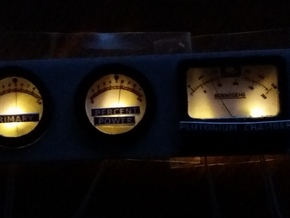 Delorean eaglemoss Plutonium chamber Gauges RAFLIN in Smooth Fine Detail Plastic