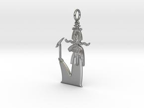 Khnum / Herishef amulet in Natural Silver