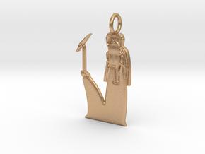 Khepri / Khepera amulet in Natural Bronze