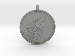 Gray wolf Animal totem Pendant 2 in Gray PA12