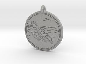 Gray Whale Animal Totem Pendant in Aluminum